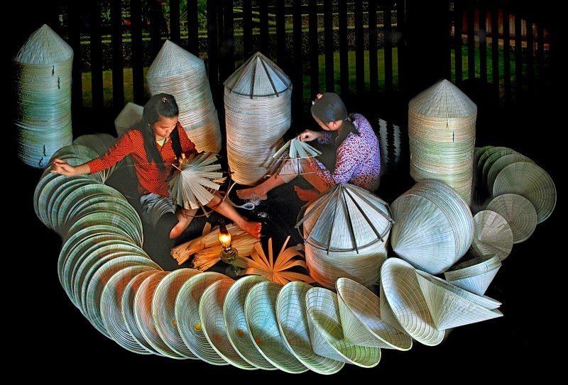 Conical hat-making Village